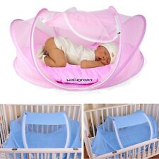 Easy Time Baby Tent bed Foldable Crib Mosquito Net Cotton-padded Mattress WN