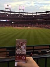 StL Cardinals vs Diamondback 7/27/17 2 Tickets Sec 189 Front Row Aisle Bleacher