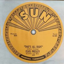 Elvis Presley. Record Label Sticker. Sun Records. HMV.