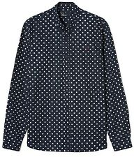 Fred Perry Polka Dot Shirt BNWT Designer Mens Top Clothing Long Sleeve