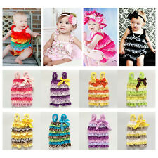 Baby Girls Ruffle Romper Infant Lace One-Piece Jumpsuit Bodysuit Dress Outfits