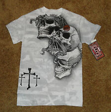 UFC Mens T Shirt MMA Elite M NEW Official Licensed NWT SKULLS n Cross  L@@K