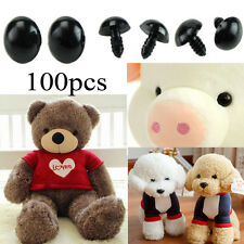 100pcs 6-12mm Plastic Black Eyes Replacement For Teddy Bear/Doll/Toy Animal
