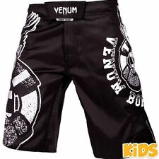 Venum Born To Fight Kids Fight Shorts - Black/White