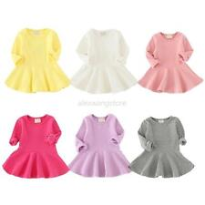 Infant Baby Girls Long Sleeve Clothes Autumn Toddler Party Wedding Ruffle Dress