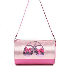 Pink Gymnastics Dance Ballet Swim Zippered Shoulder Tote Bag for Girls/Kids