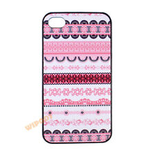 Pink Tribal Aztec Pattern Floral Hard Case Cover Skin for Apple iPhone 4 4S 5 5S