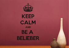Quotes Wall Stickers Keep Calm Justin Bieber Vinyl Decal 15 Colours 01149