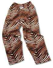Zubaz Adult Pants Black/Orange