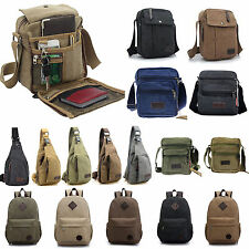 Vintage Men Boy Canvas Shoulder Casual School Military Messenger Travel Bag