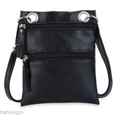 Double Zippers Ladder Lock Messenger Bag Handbag Shoulder Messenger Bag