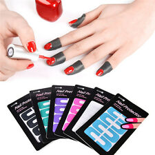 DIY Manicure Nail Art Polish Protective Spill Proof Nail Stickers Tips Tool CC