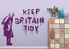 Banksy Wall Stickers Keep Britain Tidy Vinyl Decal 15 Colours 00229