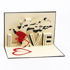 3D Card Handmade Valentine's  Day Greeting Card Cards Paper-cut Creative