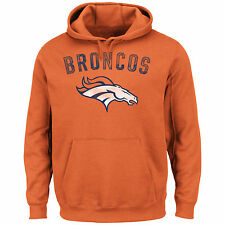 "Denver Broncos Majestic NFL ""Kick Return"" Hooded Sweatshirt - Orange"