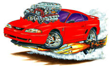 1994-98 SVT Cobra Ford Mustang Muscle Car-toon Art Print NEW