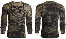 T Shirt Extreme Couture Vintage Shirt Skull Motorcycle Rock Tattoo Biker