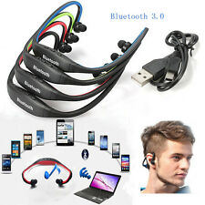 Sport Wireless Bluetooth Stereo Headphone Headset Earphone for Samsung iPhone \