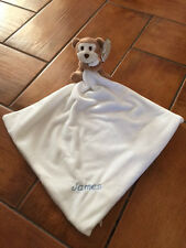 Personalised Baby Comforter Snuggy Birth Christening present gift Monkey Lamb