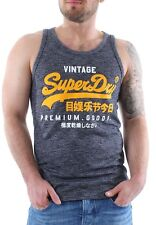 Superdry Tank Men PREMIUM GOODS VEST Nautical Navy Grit
