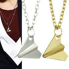 GD One Direction 1D Harry Styles Paper Airplane Silver & Gold Charms Necklaces