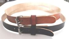 "REAL LEATHER 1.1/2"" W WORK BELT MENS WOMENS WITH S.S ROLLER BUCKLE"