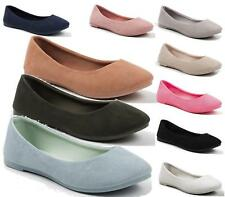 NEW WOMENS FLAT PUMPS LADIES BALLET BALLERINA DOLLY WORK SHOES SIZE
