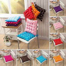 Polka Dot Print Indoor Tie On Soft Cushion Patio Garden Chair Office Seat Pads