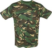 MIL-COM DPM CAMO T-SHIRT – uk military british army woodland camouflage S M L XL