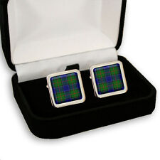COLQUHOUN SCOTTISH CLAN TARTAN MEN'S CUFFLINKS GIFT ENGRAVING