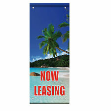 Now Leasing Double Sided Vertical Pole Banner Sign