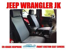 COVERKING CR-GRADE NEOPRENE FRONT GRAY CUSTOM SEAT COVERS JEEP WRANGLER JK