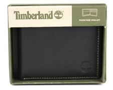 TIMBERLAND Mens Passcase Wallet Black Or Brown Leather D10218/08-01 New In Box!