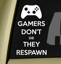 Gamers Don't Die Bumper Sticker Vinyl Decal Laptop Sticker For PC PS4 Xbox One