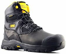 Mens New Waterproof Composite Toe Safety Uniform Cadet Lace Up Boots Shoes Size