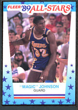 1989 Fleer Basketball Stickers #5 Magic Johnson NM-MT 91967