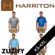 Harriton Mens Short-Sleeve Oxford with Stain-Release. M600S