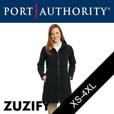 Port Authority Ladies Long Textured Hooded Soft Shell Jacket. L306