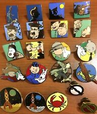 Rare Tintin Scene Pins BUY INDIVIDUALLY - Official Herge Metal Badge Fiche