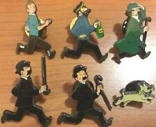 Tintin Characters running Pins BUY INDIVIDUALLY Official Herge Metal Badge Fiche