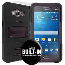 Rugged Case Cover For Samsung Galaxy Grand Prime All Carriers/ Straight Talk