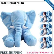 Elephant Pillow Cushion Baby Pillow Doll Toy Kids Soft Plush Lumbar Nose BLUE