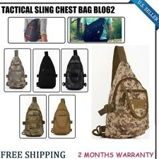 New Tactical Cross-Body Sling Chest Bag Military Shoulder Backpack Hiking Casual