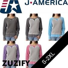 J. America Ladies Zen Fleece Two-Tone Sweatshirt. 8927