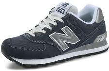 New Balance ML574NVS Dark Navy Suede Trainers Classic Running Shoes Mens Womens