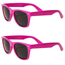2 Pack Lot of Kids Classic 80's Retro Wayfarer Sunglasses Team Colors