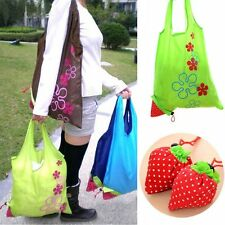 Cute Foldable 8 Colors Eco Handbag Reusable Bag Strawberry Shopping Tote Bags
