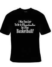 I Was Too Cute To Be A Cheerleader So I Play Basketball Purple TShirt S-XL NEW