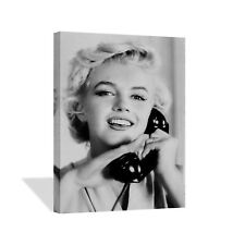 Marilyn Monroe on the Phone Canvas Print Home Decor /Iconic Wall Art