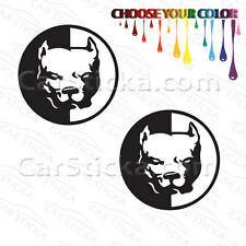 """2 of 5"""" Mean Pit Bull Terrier Dog /A pets animals car sticker decal die cut"""